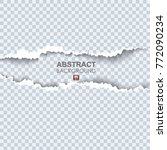 vector illustration of torn... | Shutterstock .eps vector #772090234