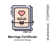 marriage certificate document... | Shutterstock .eps vector #772094365