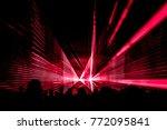 red laser show nightlife club... | Shutterstock . vector #772095841