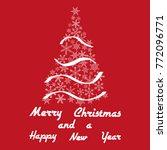 christmas tree winter...   Shutterstock .eps vector #772096771
