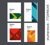 abstract flyer design... | Shutterstock .eps vector #772098145