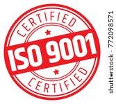 iso 9001 certified stamp | Shutterstock .eps vector #772098571