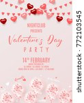 happy valentine's day party... | Shutterstock .eps vector #772103545