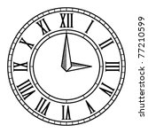 vector vintage antique clock... | Shutterstock .eps vector #77210599