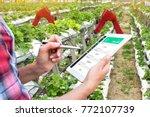 smart agriculture  vertical... | Shutterstock . vector #772107739