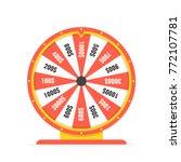 fortune wheel in flat style.... | Shutterstock .eps vector #772107781