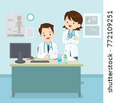 doctor sitting and standing at... | Shutterstock .eps vector #772109251