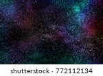 space. night sky with stars and ... | Shutterstock . vector #772112134