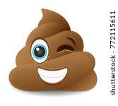 pile of poo wink emoji icon... | Shutterstock .eps vector #772115611