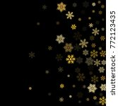 gold snowflakes falling winter... | Shutterstock .eps vector #772123435