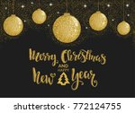 merry christmas holidays... | Shutterstock .eps vector #772124755