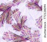 fir branch seamless pattern....   Shutterstock . vector #772128094
