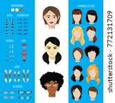 woman face constructor vector... | Shutterstock .eps vector #772131709