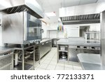 modern kitchen equipment in a... | Shutterstock . vector #772133371