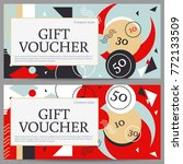 gift voucher template with... | Shutterstock .eps vector #772133509