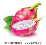 Dragon fruit  pitaya isolated...