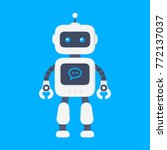 chatbot icon concept. robot... | Shutterstock .eps vector #772137037