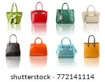 handbags collection on... | Shutterstock . vector #772141114