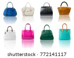 handbags collection on... | Shutterstock . vector #772141117