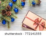 christmas new year background | Shutterstock . vector #772141555