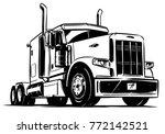 classic american truck. black... | Shutterstock .eps vector #772142521
