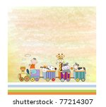 customizable birthday card with ... | Shutterstock .eps vector #77214307