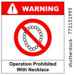 operation with necklace... | Shutterstock .eps vector #772151995
