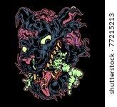 rabies dog | Shutterstock .eps vector #77215213