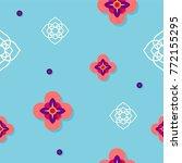 seamless pattern design on blue ...   Shutterstock .eps vector #772155295