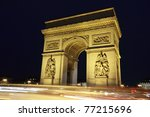 arc in paris arc de triumph ... | Shutterstock . vector #77215696