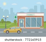 facade pharmacy store and... | Shutterstock .eps vector #772165915