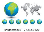 black and white map of the... | Shutterstock .eps vector #772168429