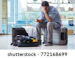 young man preparing for... | Shutterstock . vector #772168699
