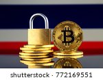 physical version of bitcoin ... | Shutterstock . vector #772169551