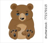cute baby bear | Shutterstock .eps vector #772170115