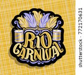 vector logo for rio carnival ... | Shutterstock .eps vector #772170631
