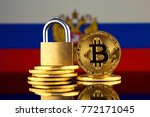 physical version of bitcoin ... | Shutterstock . vector #772171045