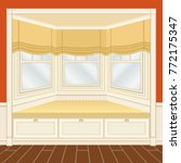 classic room interior with... | Shutterstock .eps vector #772175347