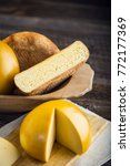 homemade sheep and cow's cheese ... | Shutterstock . vector #772177369
