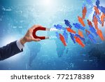 businessman in recruitment...   Shutterstock . vector #772178389