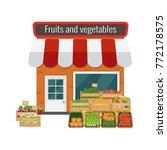vector illustration of fruits... | Shutterstock .eps vector #772178575