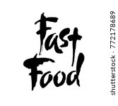 fast food lettering element.... | Shutterstock .eps vector #772178689