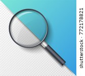 realistic magnifying glass ... | Shutterstock .eps vector #772178821