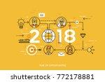 infographic concept  2018  ... | Shutterstock .eps vector #772178881