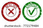 approved and rejected rubber...   Shutterstock .eps vector #772179484