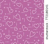 cute seamless pattern with... | Shutterstock .eps vector #772180141