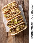 delicious cheesesteak... | Shutterstock . vector #772182067