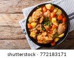 korean food  dakdoritang... | Shutterstock . vector #772183171