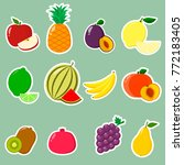 fruit symbols set of stickers... | Shutterstock .eps vector #772183405