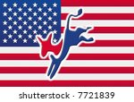 american flag with the... | Shutterstock . vector #7721839